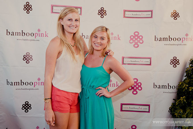 Guests posing at BambooPink party entrance